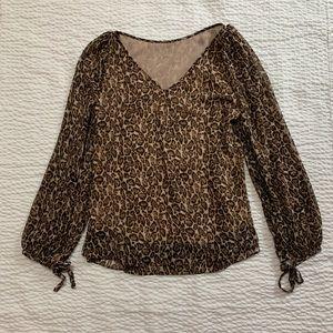 WHBM leopard blouse
